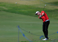 Maximillian Kieffer (GER) on the 9th during Round 1 of the ISPS HANDA Perth International at the Lake Karrinyup Country Club on Thursday 23rd October 2014.<br /> Picture:  Thos Caffrey / www.golffile.ie