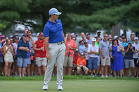 Rory McIlroy (NIR) watches his putt on 1 during 4th round of the World Golf Championships - Bridgestone Invitational, at the Firestone Country Club, Akron, Ohio. 8/5/2018.<br /> Picture: Golffile | Ken Murray<br /> <br /> <br /> All photo usage must carry mandatory copyright credit (© Golffile | Ken Murray)