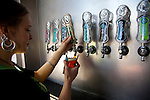 The minimal taps at the tasting room in Eugene.  Ninkasi is a regional craft brewery making beers in the Northwest style. Their location in Eugene, Oregon affords regional access for their primary ingredients, which include: Water, Malt, Hops and Yeast. With the strong regional hop industry, and access to the McKenzie River, source of some of the cleanest water in the world, Ninkasi is well positioned for their goal of brewing high quality craft beers. The beer's namesake, Ninkasi, was the Sumerian goddess of fermentation.