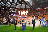 Picture by Alex Whitehead/SWpix.com - 07/10/2017 - Rugby League - Betfred Super League Grand Final - Castleford Tigers v Leeds Rhinos - Old Trafford, Manchester, England - Leeds head coach Brian McDermott and Castleford head coach Daryl Powell lead their sides out.