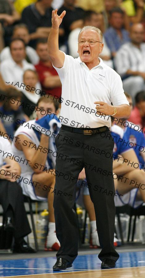 Kosarka, kvalifikacije za EP Poljska 2009.Srbija Vs. Bugarska (Bulgaria).Head coach Dusan Ivkovic.Beograd, 03.09.2008..foto: Srdjan Stevanovic