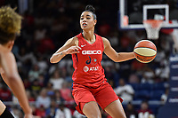 Washington, DC - August 25, 2019: Washington Mystics guard Natasha Cloud (9) directs the offense during second half action of game between the New York Liberty and the Washington Mystics at the Entertainment and Sports Arena in Washington, DC. The Mystics defeated New York 101-72. (Photo by Phil Peters/Media Images International)