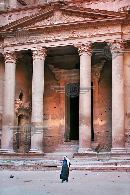 The Royal Tombs of Petra were carved to house the tombs of Nabataean dignitaries.