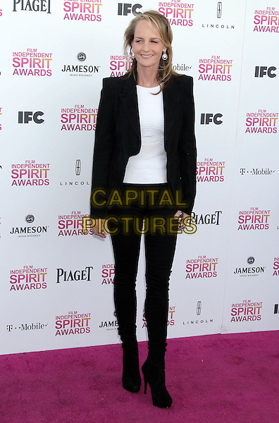 Helen Hunt.2013 Film Independent Spirit Awards - Arrivals Held At Santa Monica Beach, Santa Monica, California, USA,.23rd February 2013..indy indie indies indys full length jacket blazer top jeans denim boots white black suit .CAP/ADM/RE.©Russ Elliot/AdMedia/Capital Pictures