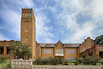 Maryknoll Convent School (Maryknoll Sisters Of St Dominic).  Original main entrance and water tower, Kowloon Tong.
