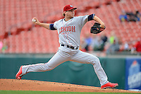 Lehigh Valley IronPigs pitcher Ethan Martin #27 during the first game of a double header against the Buffalo Bisons on June 7, 2013 at Coca-Cola Field in Buffalo, New York.  Buffalo defeated Lehigh Valley 4-3.  (Mike Janes/Four Seam Images)