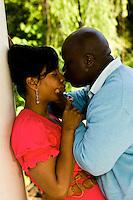 Engagement photographs of Walter Knox and Milanue Young at Peidmont Park, Atlanta, GA.