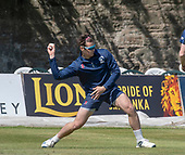 Issued by Cricket Scotland - Scotland player Tom Sole gets in some practice ahead of tomorrow's (sat) Scotland V Sri Lanka 1st One Day International at Grange CC, Edinburgh - picture by Donald MacLeod - 17.05.19 - 07702 319 738 - clanmacleod@btinternet.com - www.donald-macleod.com