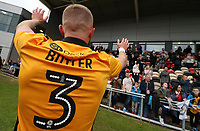 Dan Butler of Newport County celebrates during a lap of honour after the final whistle of the Sky Bet League Two match between Newport County and Notts County at Rodney Parade, Newport, Wales, UK. Saturday 06 May 2017