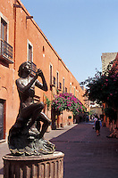 An andador or pedestrian walkway in the city of Queretaro, Mexico. The historic centre of Queretaro is a UNESCO World Heritage Site.