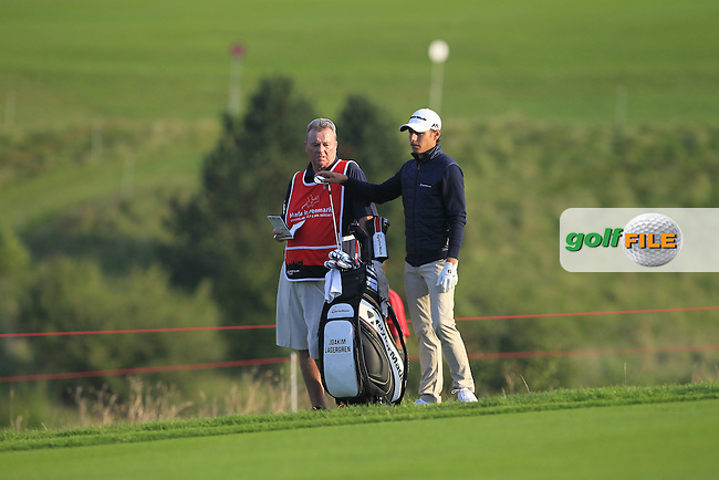 Joakim Lagergren (SWE) on the 12th fairway during Round 1 of the Made in Denmark 2016 at the Himmerland Golf Resort, Farso, Denmark on Thursday 25th August 2016.<br /> Picture:  Thos Caffrey / www.golffile.ie<br /> <br /> All photos usage must carry mandatory copyright credit   (&copy; Golffile | Thos Caffrey)