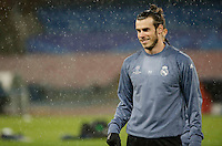 Gareth Bale  during training session  at eve  the Champions League Group  soccer match between SSC Napoli and Real Madrid   at the San Paolo  Stadium inNaples March 06, 2017