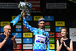 Julian Alaphilippe (FRA) Deceuninck-Quick Step wins Stage 6 and takes over the mountains Polka Dot Jersey of the Criterium du Dauphine 2019, running 229km from Saint-Vulbas - Plaine de l'Ain to Saint-Michel-de-Maurienne, France. 14th June 2019.<br /> Picture: ASO/Alex Broadway | Cyclefile<br /> All photos usage must carry mandatory copyright credit (© Cyclefile | ASO/Alex Broadway)