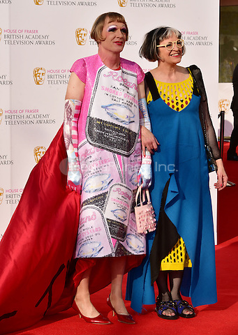 LONDON, ENGLAND - MAY 08: Grayson Perry &amp; Philippa Perry at he British Academy (BAFTA) Television Awards 2016, Royal Festival Hall, Belvedere Road, London, England, UK, on Sunday 08 May 2016.<br /> CAP/JOR<br /> &copy;JOR/Capital Pictures /MediaPunch ***NORTH AMERICA AND SOUTH AMERICA ONLY***
