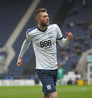 Preston North End's Tom Barkuizen celebrates scoring his sides third goal <br /> <br /> Photographer Mick Walker/CameraSport<br /> <br /> The EFL Sky Bet Championship - Preston North End v Reading - Saturday 11th March 2017 - Deepdale - Preston<br /> <br /> World Copyright &copy; 2017 CameraSport. All rights reserved. 43 Linden Ave. Countesthorpe. Leicester. England. LE8 5PG - Tel: +44 (0) 116 277 4147 - admin@camerasport.com - www.camerasport.com