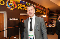 NEW YORK, NY - Sunday February 21, 2016: Brazil National Team Head Coach Dunga arrives to the Copa America Centenario draw ceremony at the Hammerstein Ballroom in midtown Manhattan, New York City.