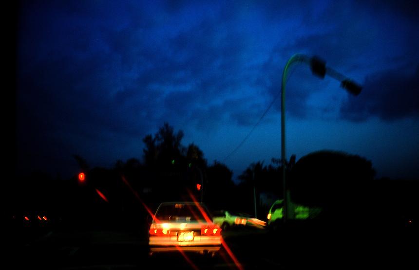 Evening Traffic, Yangon, Burma/Myanmar, November 2010. Photo: Ed Giles.