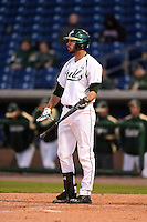 USF Bulls first baseman Buddy Putnam (5) at bat during a game against the Louisville Cardinals on February 14, 2015 at Bright House Field in Clearwater, Florida.  Louisville defeated USF 7-3.  (Mike Janes/Four Seam Images)