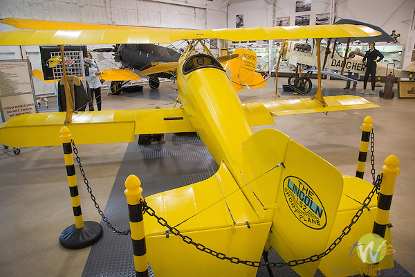 Lincoln LS2 Sport Plane Biplane in Eagles Mere Air Museum hanger.