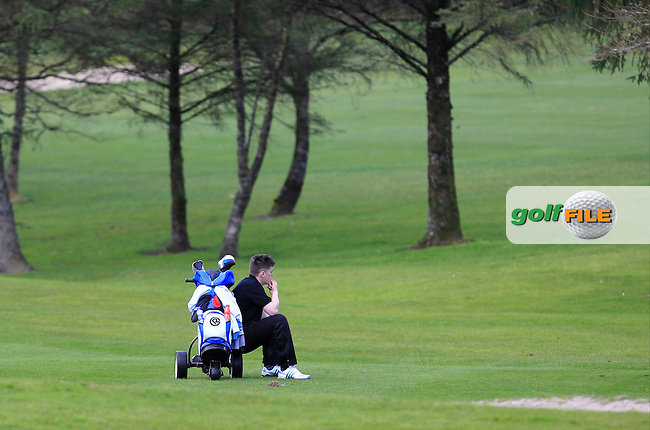 James Sugrue (Mallow) on the 12th during Day 1 of the Munster Youths' Amateur Open Championship at Monkstown Golf Club on Wednesday 30th March 2016.<br /> Picture:  Golffile / Thos Caffrey