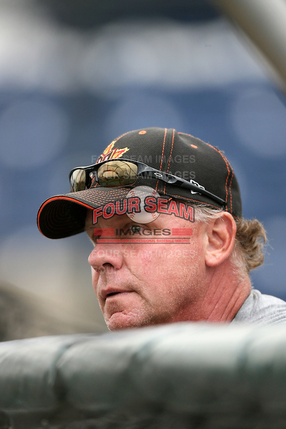 June13 2009: Steve Buechele, manager of the Bakersfield Blaze, before game against the Rancho Cucamonga Quakes at The Epicenter in Rancho Cucamonga,CA.  Photo by Larry Goren/Four Seam Images