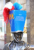 """NEW HATS FOR FAMOUS LONDON STATUES_FRANKLIN D ROOSEVELT by John Boyd.In a latest creative project to celebrate the 2012 Olympics, several of London's famous statutes have been given hats. """"Hatwalk"""" as it is termed is the brainschild of milliners Philip Treacy and Steven Jones_30/07/2012.Mandatory Credit Photo: ©Butler/NEWSPIX INTERNATIONAL..**ALL FEES PAYABLE TO: """"NEWSPIX INTERNATIONAL""""**..IMMEDIATE CONFIRMATION OF USAGE REQUIRED:.Newspix International, 31 Chinnery Hill, Bishop's Stortford, ENGLAND CM23 3PS.Tel:+441279 324672  ; Fax: +441279656877.Mobile:  07775681153.e-mail: info@newspixinternational.co.uk"""