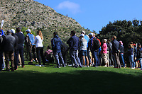 Some of the crowd watching Francesco Laporta (ITA) on the 4th green during Round 3 of the Challenge Tour Grand Final 2019 at Club de Golf Alcanada, Port d'Alcúdia, Mallorca, Spain on Saturday 9th November 2019.<br /> Picture:  Thos Caffrey / Golffile<br /> <br /> All photo usage must carry mandatory copyright credit (© Golffile | Thos Caffrey)