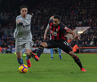 West Ham United's Samir Nasri (left) is tackled by Bournemouth's Callum Wilson (right) <br /> <br /> Photographer David Horton/CameraSport<br /> <br /> The Premier League - Bournemouth v West Ham United - Saturday 19 January 2019 - Vitality Stadium - Bournemouth<br /> <br /> World Copyright © 2019 CameraSport. All rights reserved. 43 Linden Ave. Countesthorpe. Leicester. England. LE8 5PG - Tel: +44 (0) 116 277 4147 - admin@camerasport.com - www.camerasport.com