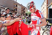 Pavel Brutt before the stage of La Vuelta 2012 between La Robla and Lagos de Covadonga.September 2,2012. (ALTERPHOTOS/Acero) /NortePhoto.com<br /> <br /> **CREDITO*OBLIGATORIO** <br /> *No*Venta*A*Terceros*<br /> *No*Sale*So*third*<br /> *** No*Se*Permite*Hacer*Archivo**<br /> *No*Sale*So*third*