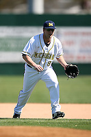 February 20, 2009:  Second baseman Mike Kittle (8) of the University of Michigan during the Big East-Big Ten Challenge at Jack Russell Stadium in Clearwater, FL.  Photo by:  Mike Janes/Four Seam Images