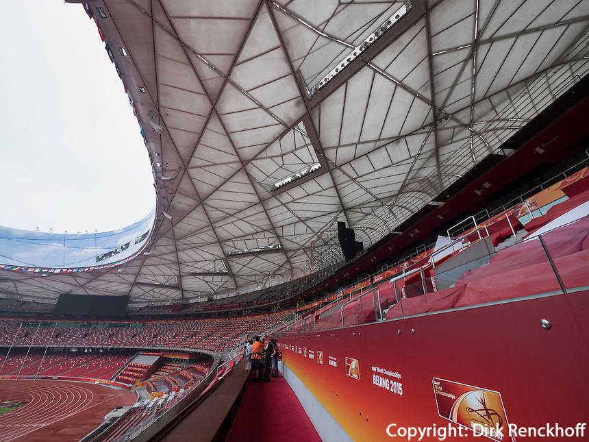 Nationalstadion Vogelnest im Olympia-Center, Peking, China, Asien<br /> National stadium &quot;Birds nest&quot; at Olympic Center,  Beijing, China, Asia