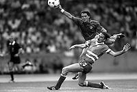 Pix:Michael Steele/SWpix...International Soccer. Italy v Denmark, European Championships, Cologne. 1988...COPYRIGHT PICTURE>>SIMON WILKINSON..Italy v Denmark.