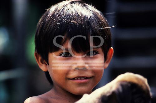 Juruena, Amazon, Brazil. Portrait of a caboclo settler boy.