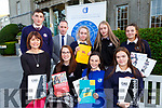 Niamh Dwyer launching the Kerry branch of Guidance counsellors annual Careers exhibititon which will be held in the Great Southern Hotel on wednesday 21st November on tuesday front row l-r: Nedine O'Sullivan Killarney CC, Nicole Williams St Brendans, Eabha Dwyer  PS Sliabh Luachra, back row: Hugh Rudden St Brendans College, Kian Crowley St Brendans, Molly Doyle PS Sliabh Luachra, Caoimhe Crowley Killarney CC,Kayleigh Doyle PS Sliabh Luachra