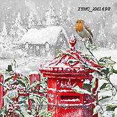 Marcello, CHRISTMAS LANDSCAPES, WEIHNACHTEN WINTERLANDSCHAFTEN, NAVIDAD PAISAJES DE INVIERNO, paintings+++++,ITMCXM1498,#XL# ,red robin