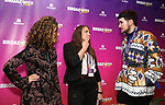 Ellie Heyman, Leah Lane and Max Vernon during a panel for BroadwayHD and the future of capturing stage performances for New Musicals at New York Hilton Midtown on January 13, 2019 in New York City.