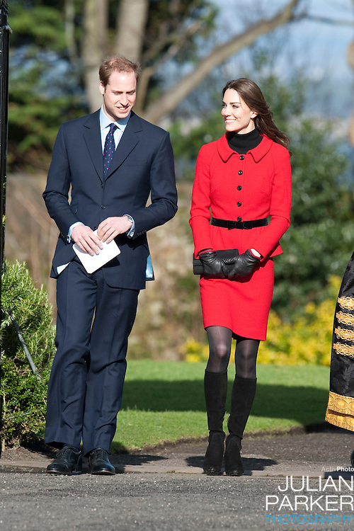 Prince William, and Catherine Middleton visit The University of St Andrews, in St Andrews, Scotland, as Patron of the 600th Anniversary Appeal