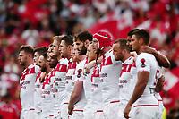 England line up to face the Sipi Tau from Tonga. 2017 Rugby League World Cup Semi Final, England v Tonga at Mt Smart Stadium, Auckland, New Zealand. 25 November 2017 © Copyright Photo: Anthony Au-Yeung / www.photosport.nz MANDATORY BYLINE/CREDIT : Andrew Cornaga/SWpix.com/PhotosportNZ