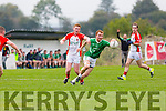 St Kieran's superb full forward Tómas Hickey causing havoc during their County Championship clash in Kilcummin on Saturday
