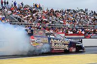 Mar. 10, 2012; Gainesville, FL, USA; NHRA funny car driver Tony Pedregon during qualifying for the Gatornationals at Auto Plus Raceway at Gainesville. Mandatory Credit: Mark J. Rebilas-