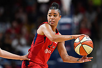 Washington, DC - July 13, 2019: Washington Mystics guard Natasha Cloud (9) looks to pass the ball during game between Las Vegas Aces and Washington Mystics at the Entertainment & Sports Arena in Washington, DC. The Aces defeated the Mystics 81-85. (Photo by Phil Peters/Media Images International)