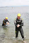 """Daire Reilly at the Clogherhead """"Round the Head Swim""""....(Photo credit should read Jenny Matthews/NEWSFILE)..."""