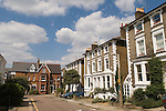Richmond on Thames Surrey UK 2007. Traditional middle class Georgian family homes in a street called The Hermitage.