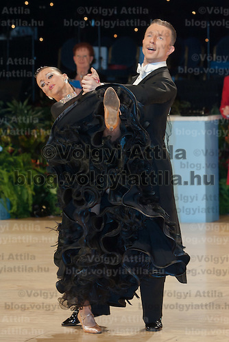 Adrian Klisan and Johanna Klisan of Germany perform their dance during the Amateur Ballroom competition of the United Kingdom Open Dance Championships held in Bournemouth International Centre, Bournemouth, United Kingdom. Thursday, 21. January 2010. ATTILA VOLGYI