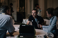 john Degenkolb (DEU/Trek-Segafredo) interviewed during the first restday in the team hotel<br /> <br /> 104th Tour de France 2017<br /> first restday