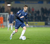 3rd December 2019; Pirelli Stadium, Burton Upon Trent, Staffordshire, England; English League One Football, Burton Albion versus Southend United; Brandon Goodship of Southend United with the ball at his feet - Strictly Editorial Use Only. No use with unauthorized audio, video, data, fixture lists, club/league logos or 'live' services. Online in-match use limited to 120 images, no video emulation. No use in betting, games or single club/league/player publications