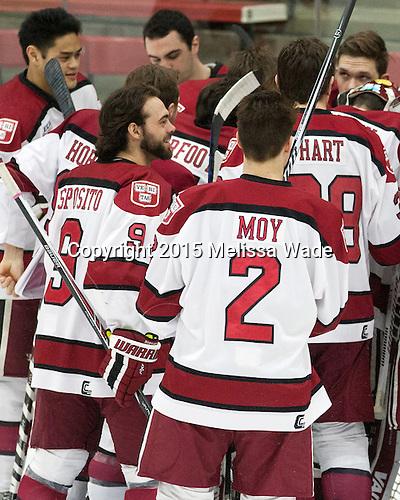 - The Harvard University Crimson defeated the visiting Princeton University Tigers 5-0 on Harvard's senior night on Saturday, February 28, 2015, at Bright-Landry Hockey Center in Boston, Massachusetts.
