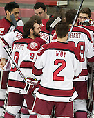 - The Harvard University Crimson defeated the visiting Princeton University Tigers 5-0 on Harvard's senior night on Saturday, February 28, 2015, at Bright-Landry Hockey Center in Boston, Massachusetts.
