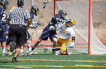 San Diego, CA 05/25/13 - Andres Gomez (Parker #6) and Jared Skinner (Del Norte #10) in action during the CIF San Diego Section Boys Division 2 Lacrosse Championship game.  Parker defeated Del Norte 12-4 for the 2013 title.