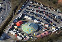 Zirkus Olympia auf dem Frascatiplatz: EUROPA, DEUTSCHLAND, HAMBURG, BERGEDORF (EUROPE, GERMANY), 15.03.2016:Zirkus Olympia auf dem Frascatiplatz